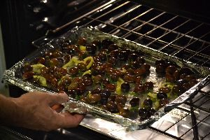 Roasting the olives_small