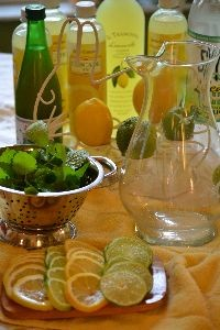 garnishes of limes lemons and lemon balm_small