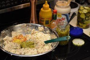 making my turkey salad_small