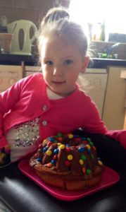 vivien-with-m-and-m-cake