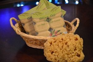 olive oil soap and sponge from sea_small