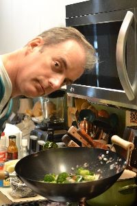 Gordon with his new Fathers Day wok_small