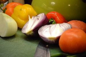 colorful bell peppers and onions_small
