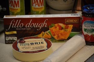 ingredients for making the brie heart_small