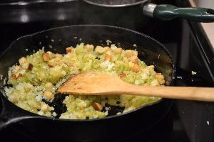 onions and celery in butter with bread crumbs_small