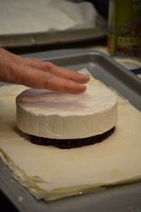 place your brie over the jam_small