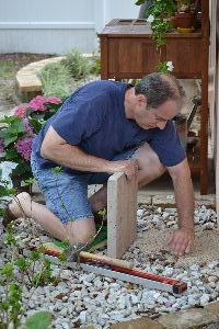 leveling the area for the stone slab_small