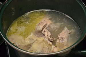 boil the chicken until the meat is falling off the bone_small