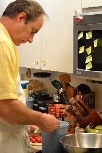 Gordon adding the dry ingredients_small