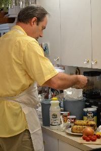 Gordon making the fully loaded corn bread_small