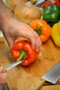 cut around the top of your bell pepper_small
