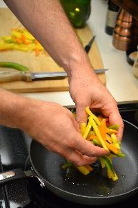 saute your peppers in some olive oil_small