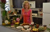 Julie's Vintage Hawaiian Mango/Mac Nut Bread/Cake w/Pasta Flowers