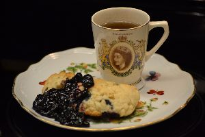 Our Alice in Wonderland Blueberry Scones